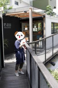 代々木VILLAGE2Fから眺める子犬テバちゃん