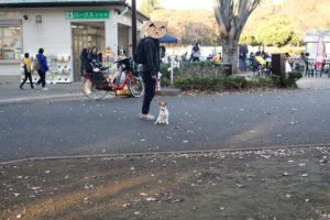 小金井公園の売店前のテバちゃん