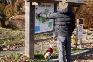 公園内の位置確認