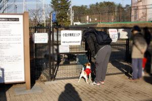 小型犬エリア入口